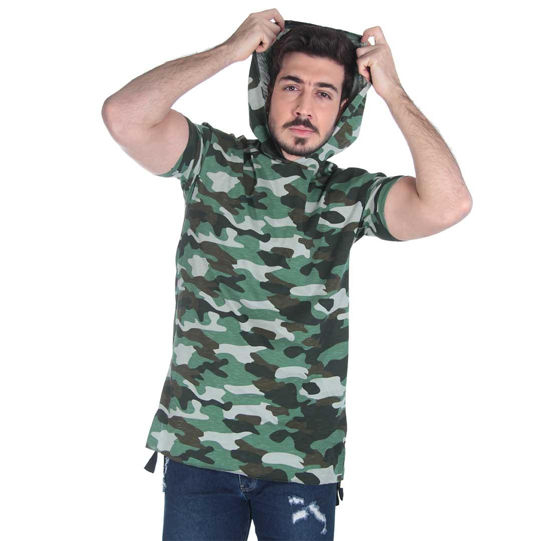 تیشرت مردانه چریکی سبز