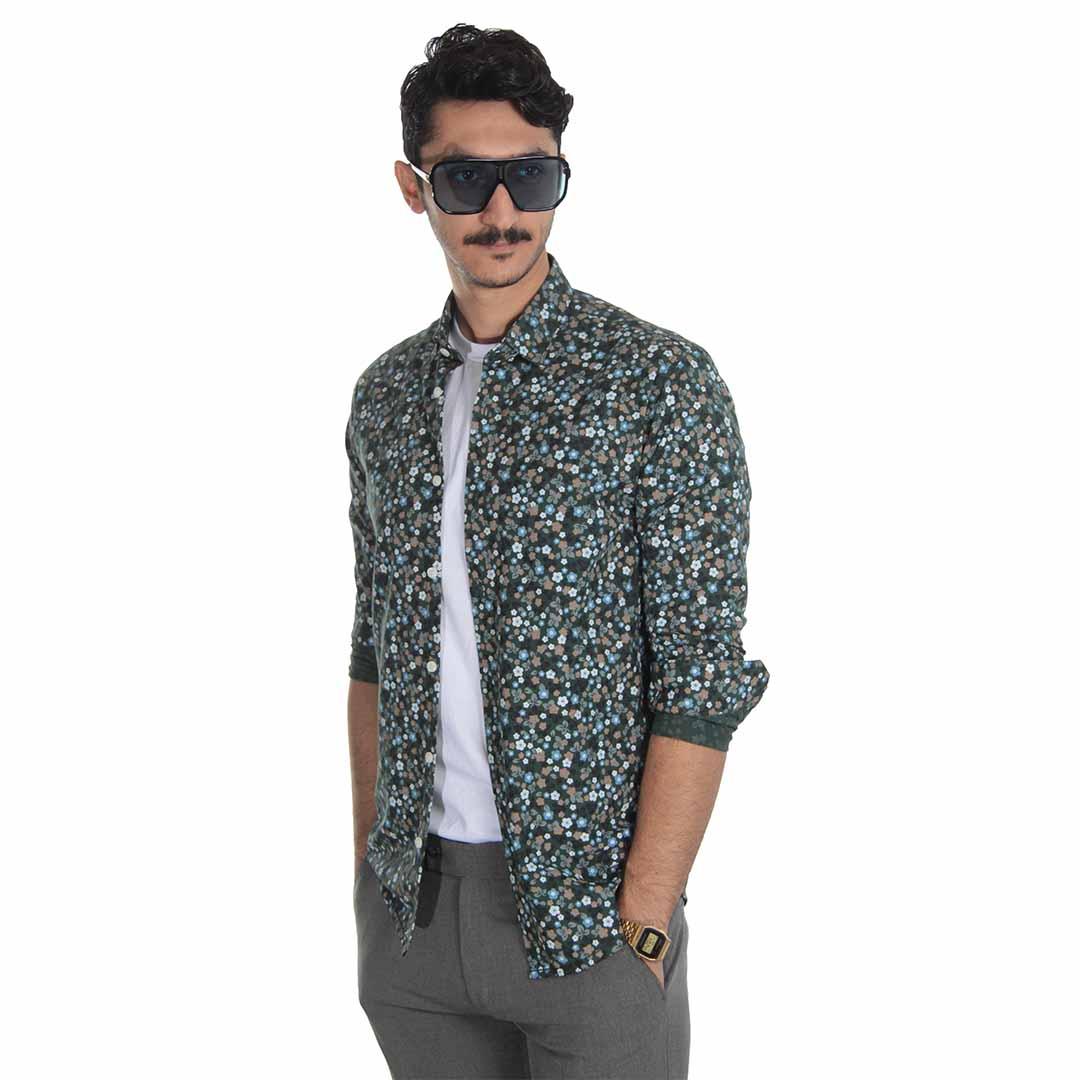 مدل پیراهن مردانه گلدار