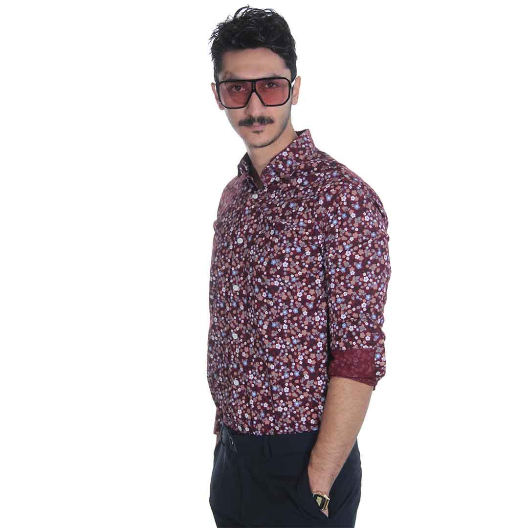 پیراهن مردانه گل دار در رنگ های مختلف
