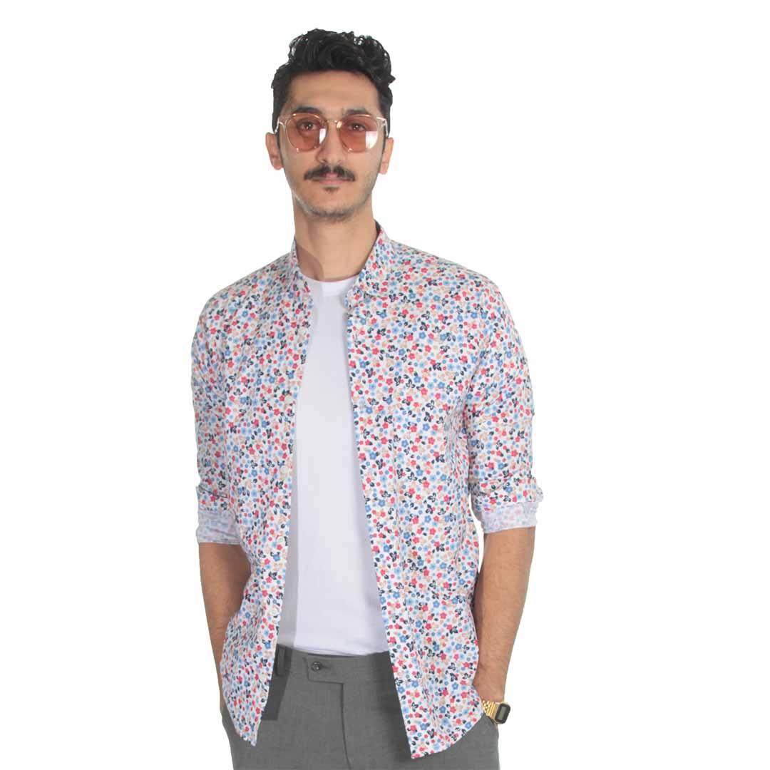 پیراهن مردانه گل گلی