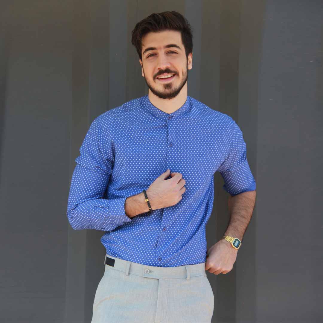 خرید پیراهن مردانه یقه دیپلمات