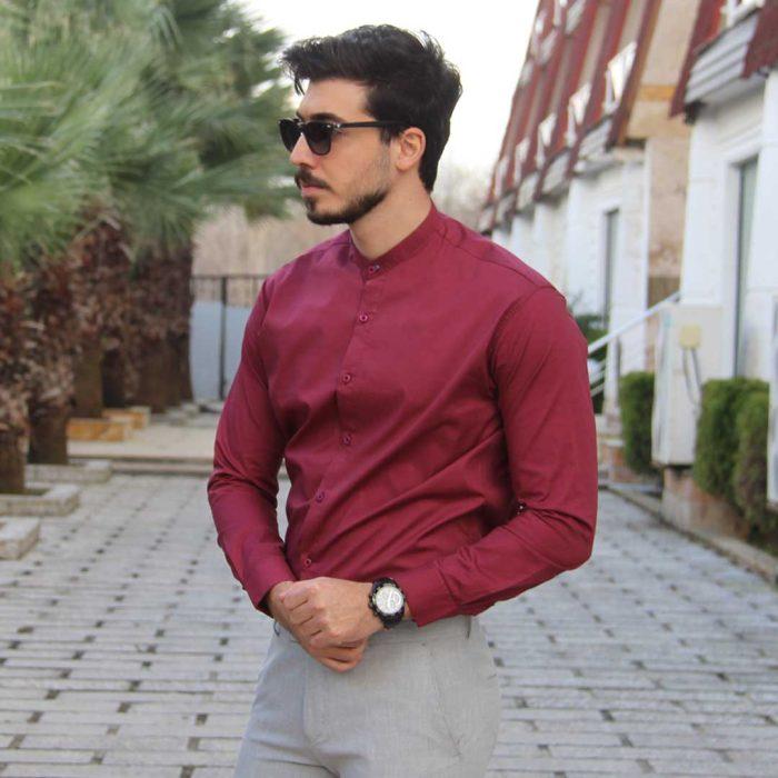 پیراهن مردانه یقه دیپلمات