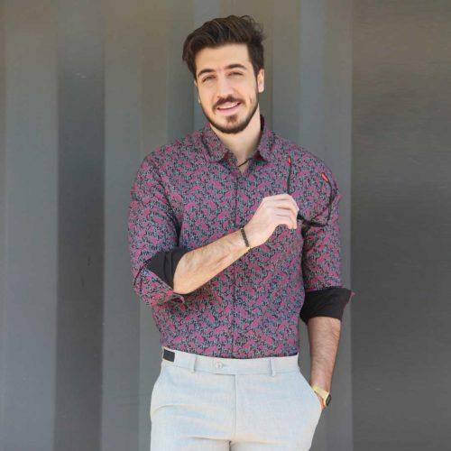 پیراهن مردانه طرح دار